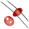 Twin 2-hole Bead 2.5x5mm Transparent Red Dyed